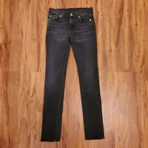 7 For All Mankind Sz12 Boys Faded Black Jeans